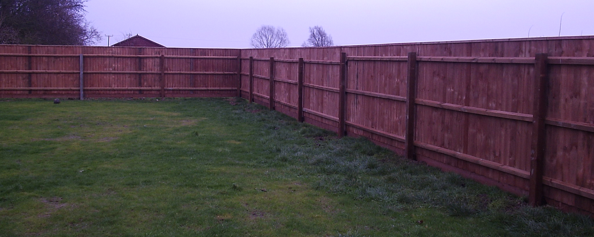 Supplying and erecting fencing such as continuous Feather Edge Fencing.